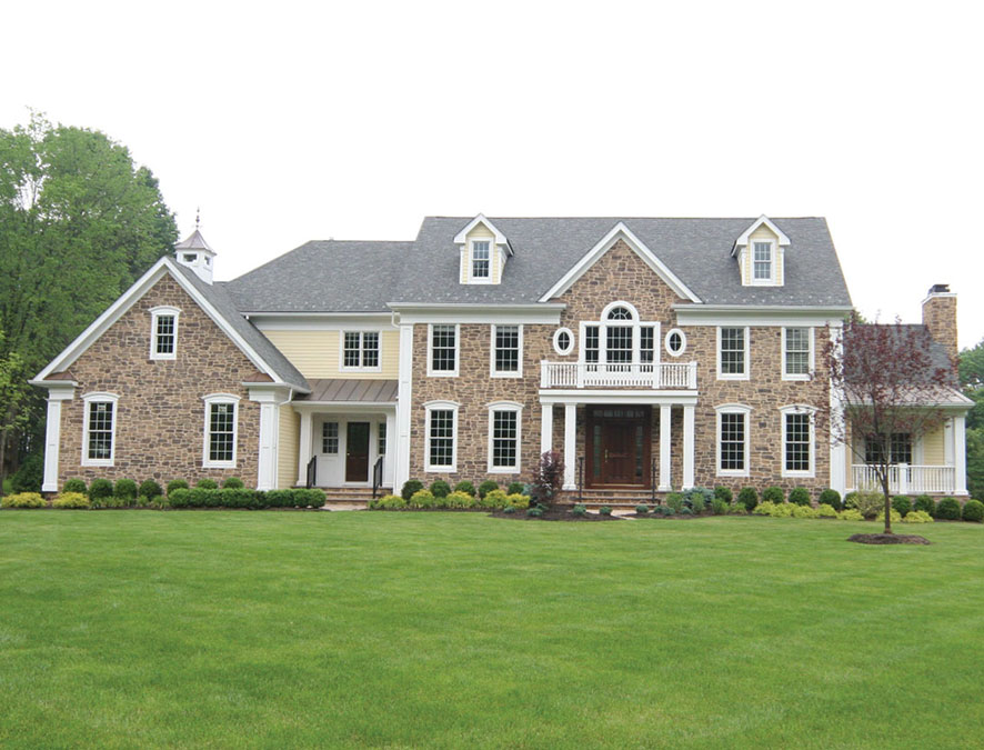 Custom Built Bucks County Colonial Home by Rica Builders in New Jersey