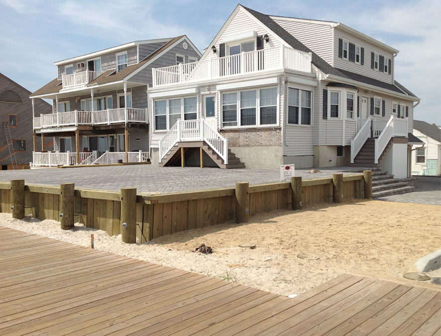Custom Built Sandy Strong Beach House by Rica Builders in New Jersey